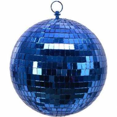 3x blauwe disco kerstballen discoballen/discobollen foam 20 cm