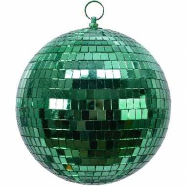 3x groene disco kerstballen discoballen/discobollen foam 20 cm