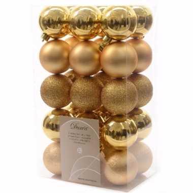 Christmas gold gouden kerstversiering kerstballen pakket 30 stuks