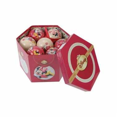 Giftbox met Minnie Mouse kerstballen