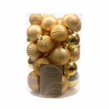 Gouden kerstversiering kerstballen 34x