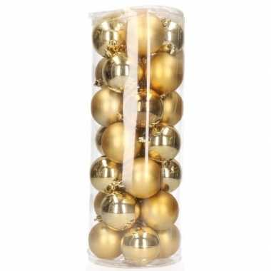 Gouden Mini Kerstballen 28 Stuks Goedkope Kerstballen Nl
