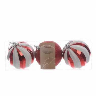 Kerstballen pakket 3 stuks 8 cm