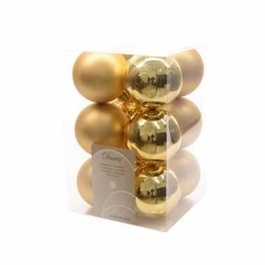 Kerstballen pakket mat goud 6 cm