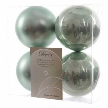 Kerstballen pakket mat mint 10 cm