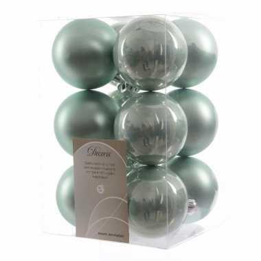 Kerstballen pakket mat mint 6 cm