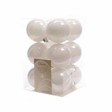 Kerstballen pakket mat wit 6 cm