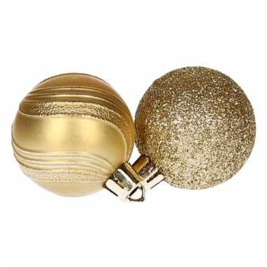 Kerstballenset goud 2 soorten