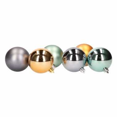 Kerstballenset groentinten 2 soorten