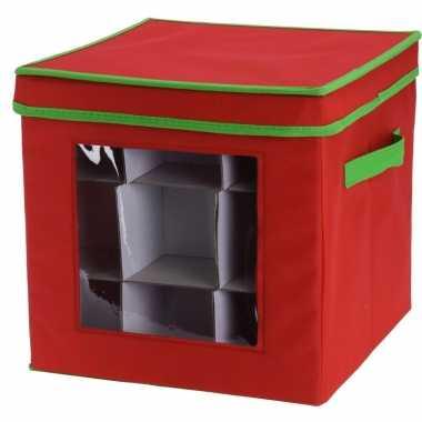 Opbergbox voor kerstballen 27 cm