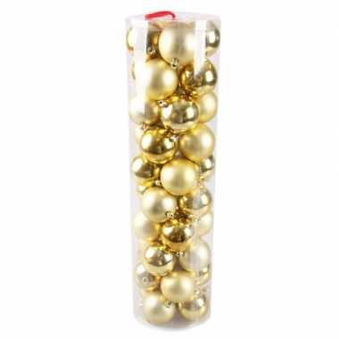 Plastic kerstballen goud 40 stuks