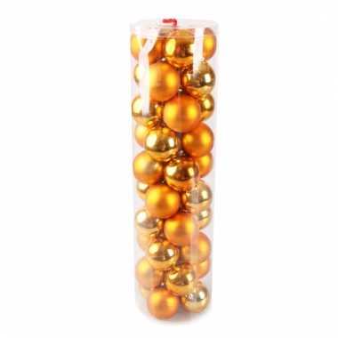 Plastic Kerstballen Oranje 40 Stuks Goedkope Kerstballen Nl