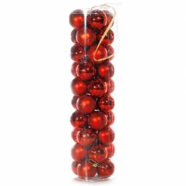Plastic kerstballen rood 40 stuks