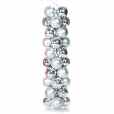 Plastic kerstballen zilver 40 stuks