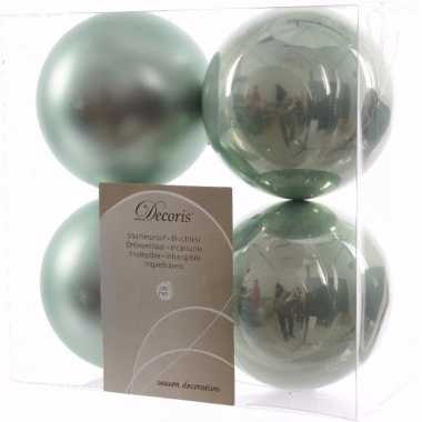 Sweet christmas mint groene kerstversiering kerstballen pakket 4 stuk