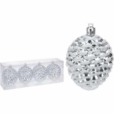Zilveren Dennenappels Kerstballen Goedkope Kerstballen Nl