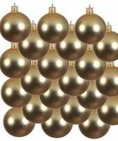 18x gouden kerstballen 8 cm matte glas kerstversiering