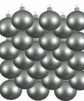 18x mintgroene kerstballen 6 cm matte glas kerstversiering