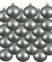 18x mintgroene kerstballen 8 cm matte glas kerstversiering