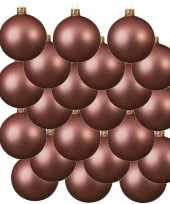 18x oud roze kerstballen 6 cm matte glas kerstversiering