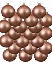 18x roze kerstballen 6 cm matte glas kerstversiering