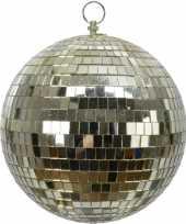 1x grote gouden disco kerstballen discoballen discobollen foam 20 cm