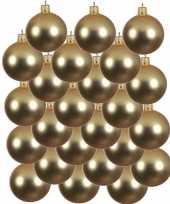24x gouden kerstballen 6 cm matte glas kerstversiering