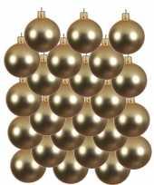 24x gouden kerstballen 8 cm matte glas kerstversiering