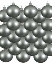 24x mintgroene kerstballen 6 cm matte glas kerstversiering
