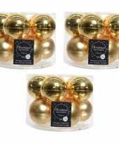 30x gouden glazen kerstballen 6 cm glans en mat