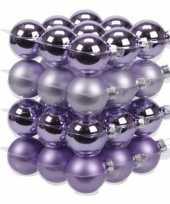 36x paarse kerstballen 4 cm glas kerstversiering