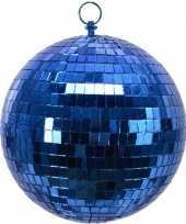 3x blauwe disco kerstballen discoballen discobollen foam 20 cm