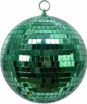 3x groene disco kerstballen discoballen discobollen foam 20 cm