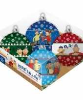 4x buurman en buurman kerstballen 8 cm
