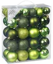 50x kinder kerstballen pakket groen