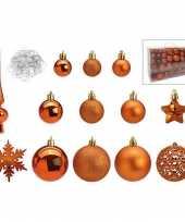 Compleet kerstversiering kerstballen pakket 101 delig koper