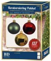 Complete kerstballen set classic voor 180 cm kerstboom 10152782