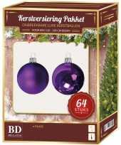 Complete kerstballen set paars voor 120 cm kerstboom
