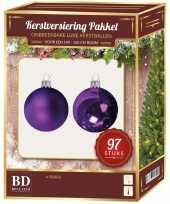 Complete kerstballen set paars voor 150 cm kerstboom