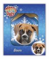 Dieren huisdieren kerstballen boxer hond 8 cm