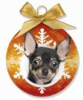 Dieren kerstballen chihuahua hondje 8 cm
