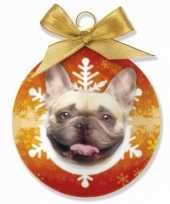Dieren kerstballen franse bulldog honden 8 cm