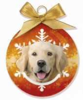 Dieren kerstballen golden retriever honden 8 cm