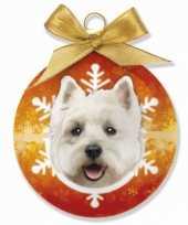 Dieren kerstballen west highland white terrier hondje 8 cm