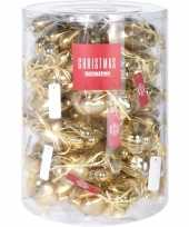 Gouden kerstboomversiering kerstballen hart 10