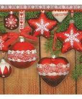 Kerst servetten met kerstballen 10192695