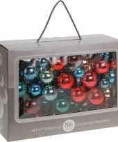 Kerstballen bonte kleuren diverse formaten