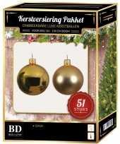 Kerstballen met ster piek set goud voor 120 cm kerstboom 10170352
