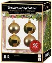 Kerstballen met ster piek set goud voor 180 cm kerstboom 10157232