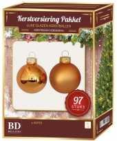 Kerstboomversiering kerstballen set koper 97 stuks